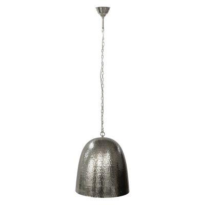 Pendente Bella Iluminação Fatsa Sino Metal Cromo Suspenso 38x35cm 1x E27 110v 220v Bivolt GP002C Escritórios Quartos