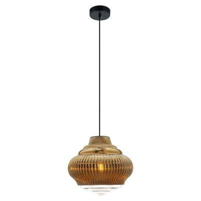 Pendente Bella Iluminação Fuzy Metal Vidro Translucido Dourado 25x27,5cm 1 E27 40W 110v 220v Bivolt OP055B Balcões Sala Estar