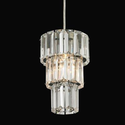 Pendente Bella Iluminação Krika Metal Cromo Vidro Translucido 20x31cm 1 G9 Halopin 110v 220v Bivolt BO008 Saguão Hall