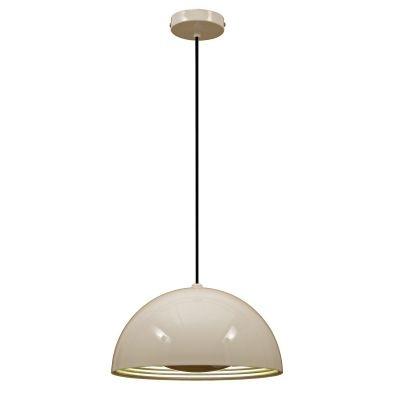 Pendente Bella Iluminação Mezza Redondo Metal Branco Prata 50x50cm 1 E27 110v 220v Bivolt SE500B Corredores Cozinhas