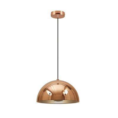 Pendente Bella Iluminação Mezza Redondo Metal Cobre Cromo Ø36cm 1 E27 110v 220v Bivolt SE252P Corredores Cozinhas