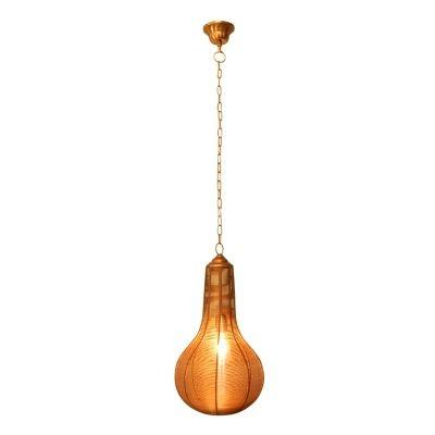 Pendente Bella Iluminação Ravi Suspenso Metal Cobre Contemporâneo 48x27cm 1 E27 110v 220v Bivolt PEI0019CO Balcões Mesa Jantar