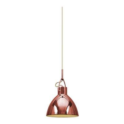 Pendente Bella Iluminação Sino Clap Suspenso Aço Cobre Contemporâneo Ø22cm 1 E27 110v 220v Bivolt SE8961A Balcões Cozinhas