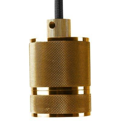 Pendente Bella Iluminação Socket Tubo Suspenso Metal Dourado 6x4,8cm 1 E-27 110v 220v Bivolt DA002B Sala Estar Quartos