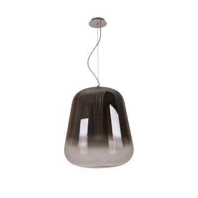 Pendente Bella Iluminação Spec Metal Cromo Vidro Fumê Degradê 51x45cm 1 E27 110v 220v Bivolt OD036 Cozinhas Balcões