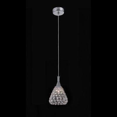 Pendente Bella Iluminação Trama Metal Cristal K9 Translucido 15x13cm 1 G9 Halopin 110v 220v Bivolt HO119 Sala Estar Cozinhas