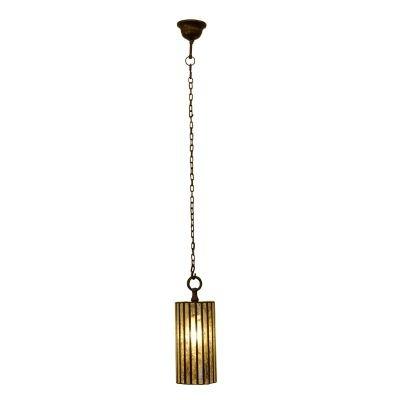 Pendente Bella Iluminação Tubo Shiva Vidro Contemporâneo Espelhado 40x15cm 1 E27 110v 220v Bivolt PEI0035PDF Sala Estar Balcões