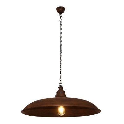 Pendente Bella Iluminação Udaipur Redondo Metal Envelhecido 25x60cm 1 E27 110v 220v Bivolt PEI0034MA Cozinhas Balcões