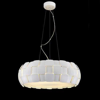 Pendente Bella Iluminação Vega Policarbonato Acrílico Esfera Branco 20x63cm 8 E27 110v 220v Bivolt HO108 Cozinhas Saguão