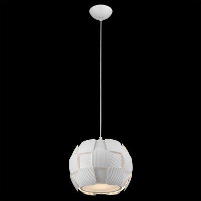 Pendente Bella Iluminação Vega Policarbonato Acrílico Esfera Branco 24x28cm 1 E27 110v 220v Bivolt HO105 Cozinhas Saguão