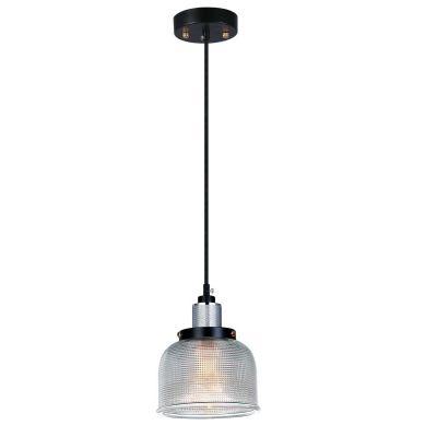 Pendente Bella Iluminação Suspenso Grid Metal Vidro Translucido 11,5x14,5cm 1 E27 110v 220v Bivolt OP045C Saguão Mesa Jantar