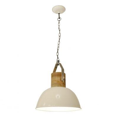 Pendente Bella Iluminação Suspenso Kali Sino Metal Branco 46x35cm 1 E27 110v 220v Bivolt PEI0016PBR Mesa Jantar  Balcões