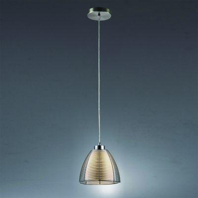 Pendente Bella Iluminação Wire Cupula Cone Vidro Translucido Metal Ø19cm 1 E27 110v 220v Bivolt GA002S Sala Estar Saguão