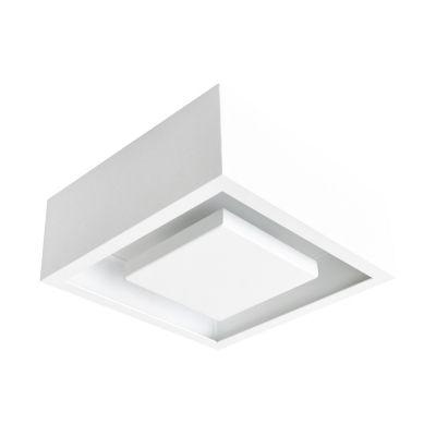 Plafon Bella Iluminação Hide LED Quadrado Embutir Branco 8,5x22cm 1x LED 12W 110v 220v Bivolt DL081WW Sala Estar Cozinhas