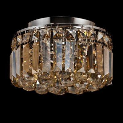 Plafon Bella Iluminação Kri Metal Cromo Cristal K9 Esferico 20,5x25cm 4 G9 Halopin 110v 220v Bivolt HU1102A Saguão Sala Estar