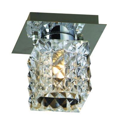 Plafon Bella Iluminação Prisma Cubico Metal Vidro Translucido 10x9cm 1 G9 Halopin 110v 220v Bivolt HU2149C Saguão Sala Estar