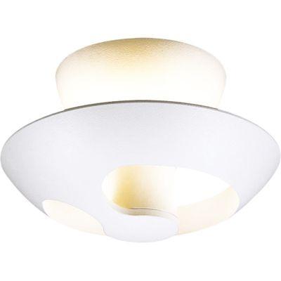 Plafon Bella Iluminação Red Champ Sobrepor LED Metal Branco 21,5x145cm 1 LED 18W 110v 220v Bivolt NS1017 Sala Estar Quartos