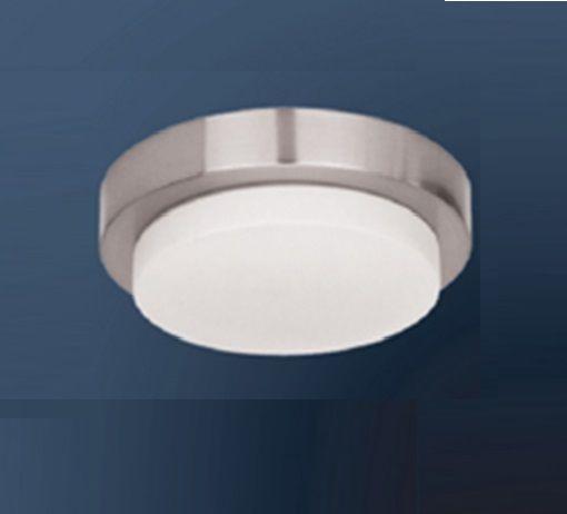 Plafon Bella Iluminação Sobrepor Redondo Aço Cromo Vidro Branco 7x23cm 1 G9 Halopin MO00081C Sala Estar Quartos