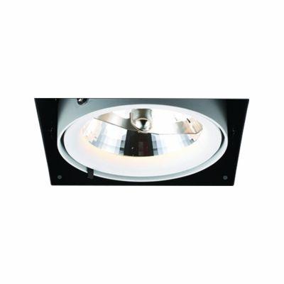 Spot Bella Iluminação Aro No Frame Metal Branco Preto 12,3x14,5cm G53 1 AR111 50W 110v 220v Bivolt NS1031 Quartos Sala Estar