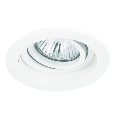 Spot Bella Iluminação Embutir Conecta Red Metal Branco 4x9,2cm 1 GU10 Minidicróica 110v 220v Bivolt NS7350B Sala Estar Hall