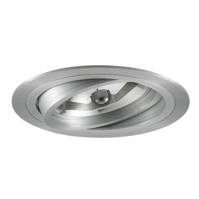 Spot Bella Iluminação Embutir Ecco Regulavel Metal Branco 6,5x17cm 1 AR111 110v 220v Bivolt NS5110B Sala Estar Quartos