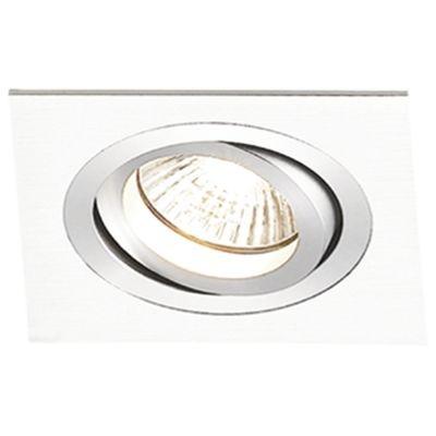 Spot Bella Iluminação Embutir Ecco Quadrado Metal Branco Ø12cm 1 E27 PAR20 110v 220v Bivolt NS5201B Cozinhas Lavabos