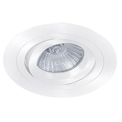 Spot Bella Iluminação Embutir Ecco Red Metal Branco 5,8x9,2cm 1 GU10 Dicróica 110v 220v Bivolt NS5600B Quartos Sala Estar