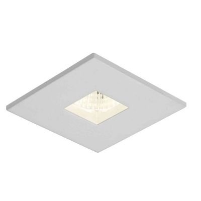 Spot Bella Iluminação Embutir Fit Quadrado Metal 3,3x5,7cm 1 GU10 Minidicróica 110v 220v Bivolt NS1007 Sala Estar Saguão