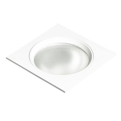 Spot Bella Iluminação Embutir Fit Quadrado Metal Branco 8x11,6cm 1 G9 Halopin 110v 220v Bivolt NS5901B Saguão Quartos
