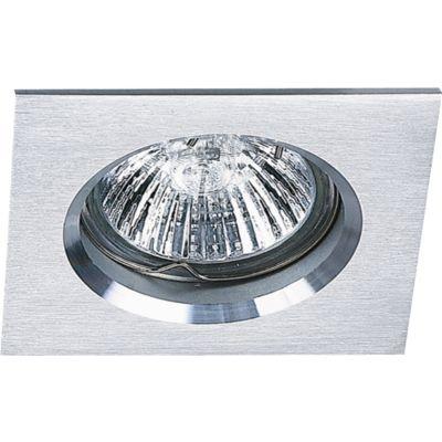 Spot Bella Iluminação Embutir Fit Quadrado Metal Escovado 5,7x8cm 1 GU10 Dicróica 110v 220v Bivolt NS1002A Cozinhas Sala Estar