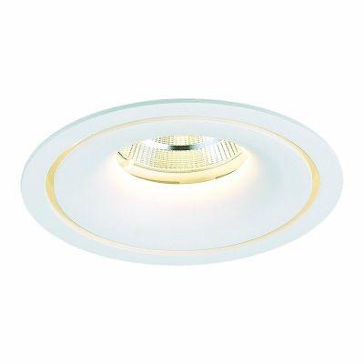 Spot Bella Iluminação Embutir Halo LED Metal Redondo Branco 7x14cm 1 LED 24W 110v 220v Bivolt NS1061 Corredores Sala Estar