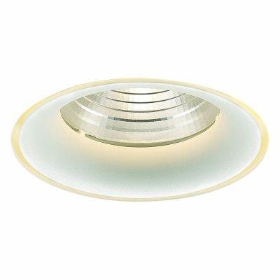 Spot Bella Iluminação Embutir Halo No Frame Metal Branco 7x12,2cm 1 LED 24W 110v 220v Bivolt NS1028 Corredores Sala Estar