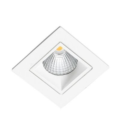 Spot Bella Iluminação Embutir Jan LED Quadrado Metal Branco 6x9,5cm 1 LED 5W 110v 220v Bivolt NS1013 Sala Estar Cozinhas