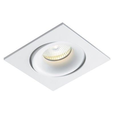 Spot Bella Iluminação Embutir Luna Quadrado Metal Branco 3,5x8cm 1 Minidicróica 110v 220v Bivolt NS411 Quartos Corredores