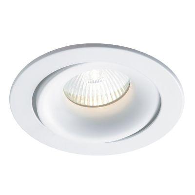 Spot Bella Iluminação Embutir Luna Red Metal Branco 3,5x8cm 1 Minidicróica 110v 220v Bivolt NS411R Quartos Corredores