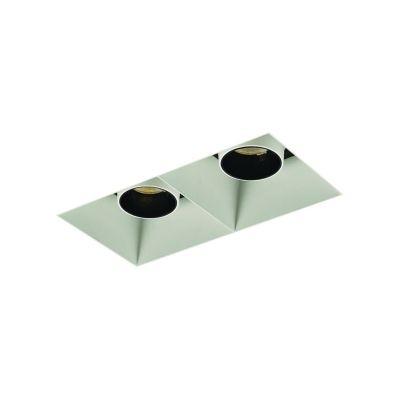 Spot Bella Iluminação Embutir Make No Frame Duplo Metal 11,3x16,6cm 2 LED 9W 110v 220v Bivolt NS1035 Quartos Saguão