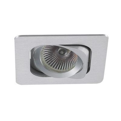 Spot Bella Iluminação Embutir Monet Quadrado Metal Branco 5x8cm 1 GU10 Minidicróica 110v 220v Bivolt NS6101B Sala Estar Hall