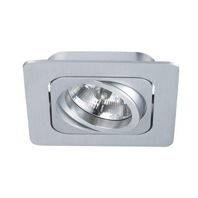 Spot Bella Iluminação Embutir Monet Quadrado Metal Branco 8x13cm 1 AR70 110v 220v Bivolt NS6701B Corredores Cozinhas