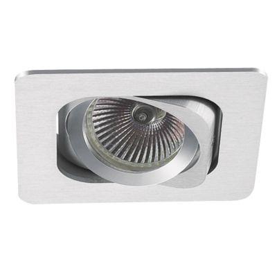 Spot Bella Iluminação Embutir Monet Quadrado Metal Escovado 8x13cm 1 AR70 110v 220v Bivolt NS6701A Corredores Cozinhas