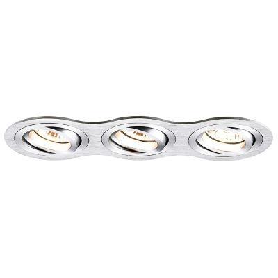 Spot Bella Iluminação Embutir Ouse Red Triplo Metal 5,8x25,4cm 3 GU10 Dicróica 110v 220v Bivolt NS5600-3A Quartos Sala Estar