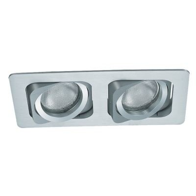 Spot Bella Iluminação Embutir Ret Monet Duplo Metal Branco 11,5x24cm 2 PAR20 110v 220v Bivolt NS6202B Cozinhas Sala Estar