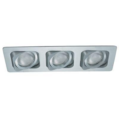 Spot Bella Iluminação Embutir Ret Monet Triplo Metal Branco 11,5x35cm 3 PAR20 110v 220v Bivolt NS6203B Cozinhas Sala Estar