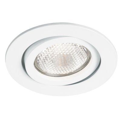 Spot Bella Iluminação Embutir Slim Red Metal Branco 3,8x16cm 1 AR111 110v 220v Bivolt NS311R Saguão Quartos