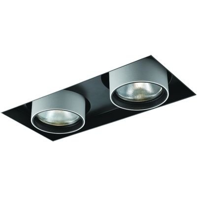 Spot Bella Iluminação Embutir Spy No Frame Duplo Metal 13,3x27cm 2 LED 20W 110v 220v Bivolt NS1049 Sala Estar Saguão