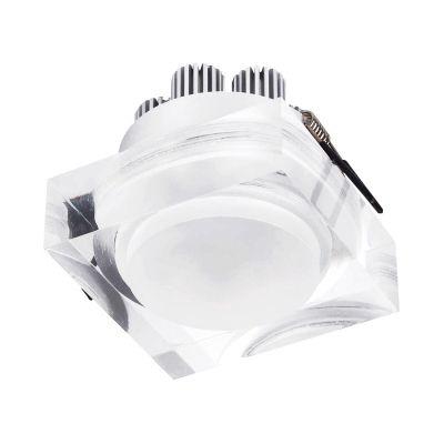 Spot Bella Iluminação Mat Quadrado LED Embutir Metal Acrílico 7,5x9cm 1 LED 6W LG8590 Corredores Cozinhas