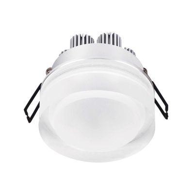 Spot Bella Iluminação Mat Red LED Embutir Metal Acrílico 6,5x7cm 1 LED 3W 110v 220v Bivolt LG8670 Saguão Corredores