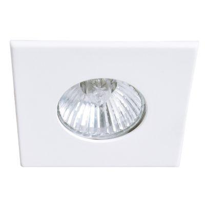 Spot Bella Iluminação Pop Quadrado Embutir Metal Branco 2,2x8,6cm 1x Dicróica 110v 220v Bivolt DL060 Corredores Sala Estar