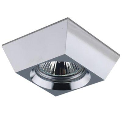 Spot Bella Iluminação Quadrado Embutir Contemporâneo Metal Cromo Ø8,5cm 1 GU10 Dicróica 110v 220v Bivolt YD922 Sala Estar Hall