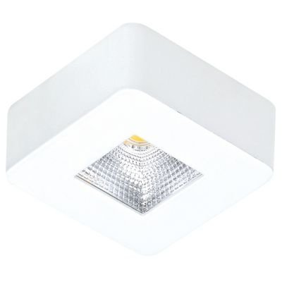 Spot Bella Iluminação Quadrado Pill LED Sobrepor Quadrado Branco 2,6x6,2cm 1x LED 5W 110v 220v Bivolt DL107Q Corredores Quartos