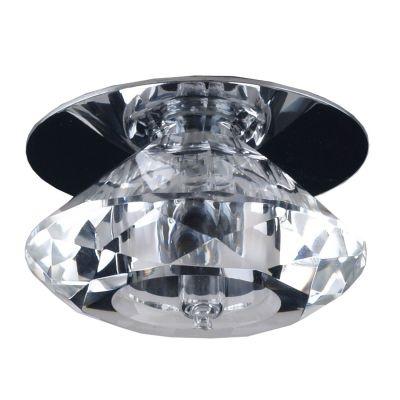Spot Bella Iluminação Shine Contemporâneo Cristal K9 Metal Cromo Ø6cm 1 G9 Halopin 50W 110v 220v Bivolt YD028G Sala Estar Quartos